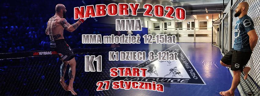 27 STYCZNIA STARTUJĄ NABORY DO GRUP MMA i K1